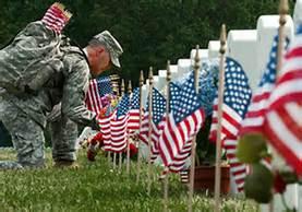 memorial day flag setting