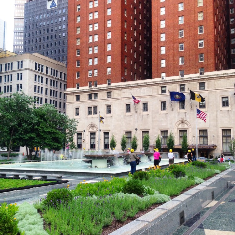 The newly renovated Mellon Square. Photo by Janna Leyde