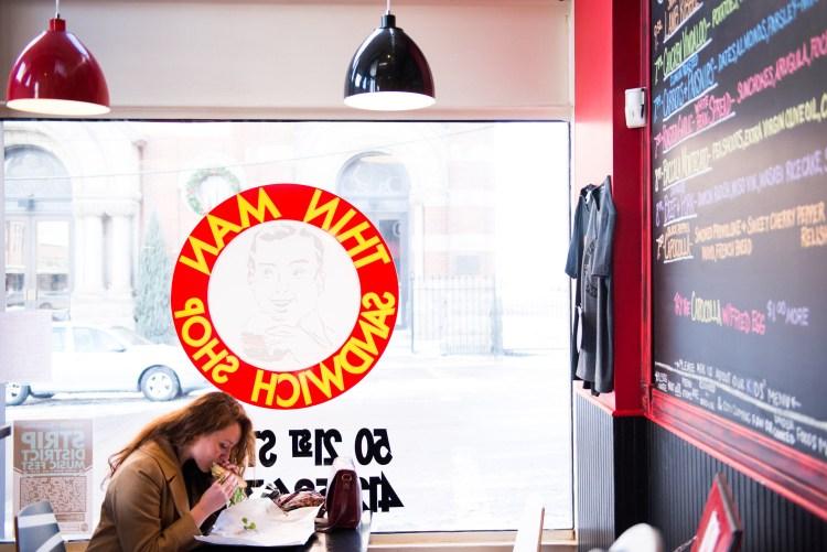 At Thin Man Sandwich Shop at the corner of 21st and Smallman. Photo by Rob Larson.