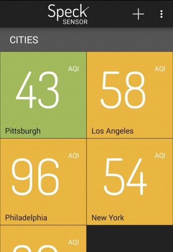 The air quality in Pittsburgh wasnt too bad on this day, but usually compares poorly to other cities.