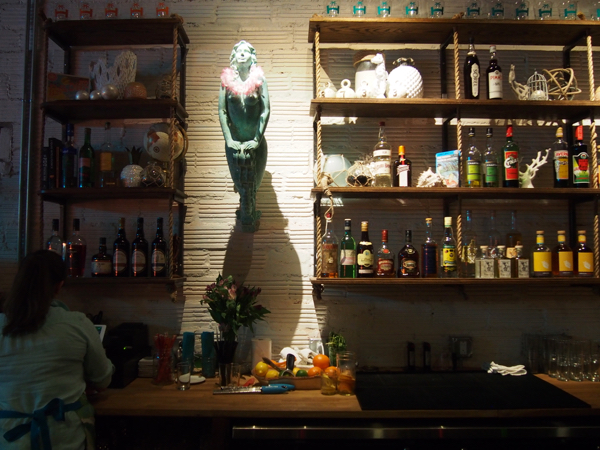 The bar at Hidden Harbor. Photo by Tom O'Connor
