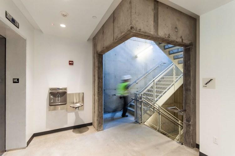 Frick Environmental center stairwell