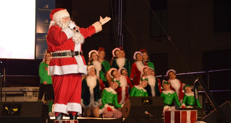 Santa Spectacular. Image courtesy of CBS Radio Pittsburgh.