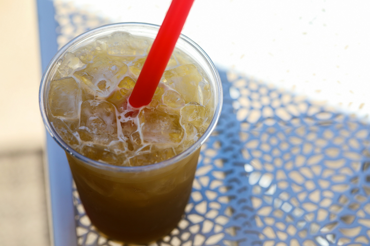 Nuoc Mia (fresh pressed sugar cane juice over ice) at Banh Mi & Ti, Lawrenceville. Photo by Tom O'Connor