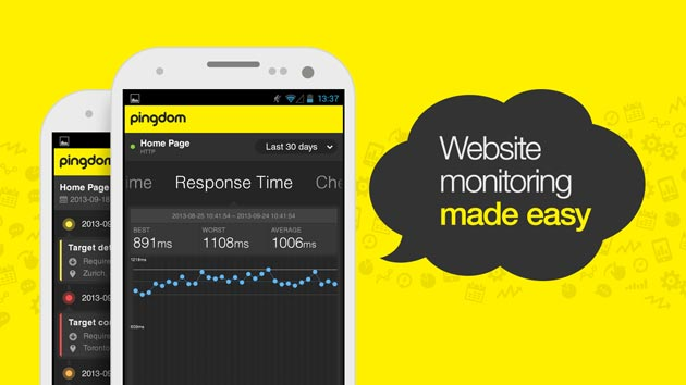 Pingdom app to monitor website