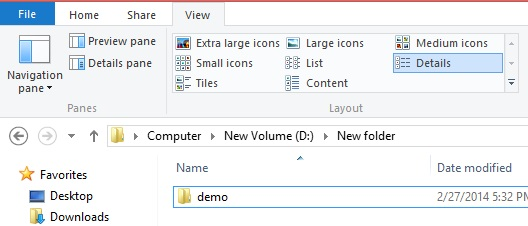hide folder in windows8