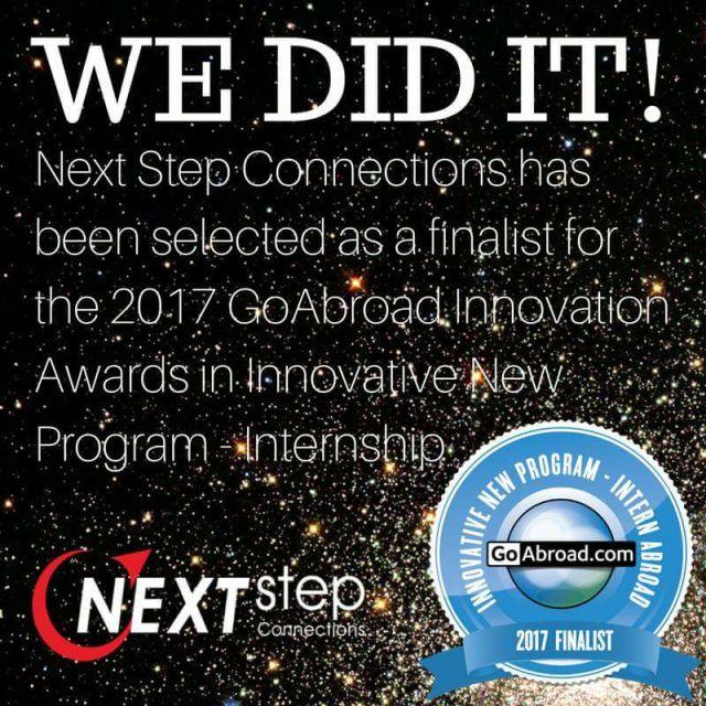 2017 Finalist Of GoAbroad Global Innovation Awards For Best Internship Program.