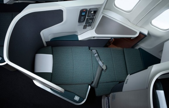 Cathay Pacific Business Class - Full flat bed