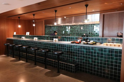 Cathay Pacific Business Class lounge at Bangkok airport - Noodle Bar