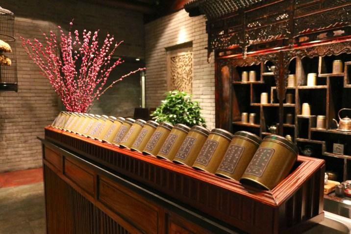 Huang Ting restaurant tea selection