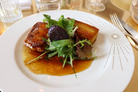 Ore restaurant by Ducasse - Roasted farm chicken, Anna potatoes
