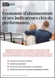 Économie d'abonnement et ses indicateurs clés de performance.