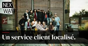 Un service client localisé