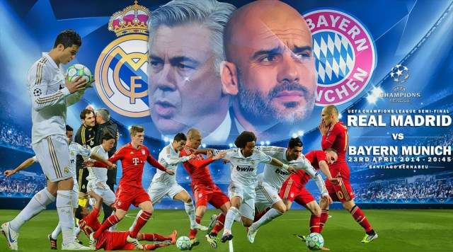 BIG MATCH Real Madrid Bakal Hadapi Bayern Munich