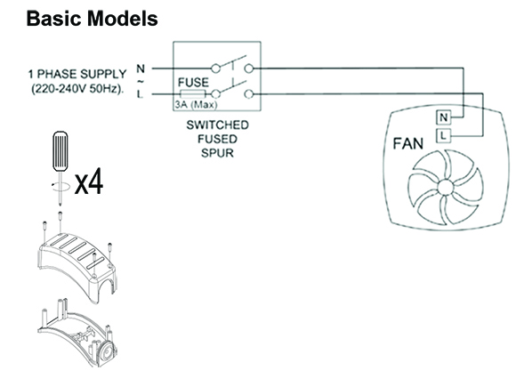 wiring diagrams  vent axia acm 100 part number 17104010 nfan