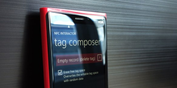 NFC interactor - Erase NFC Tags