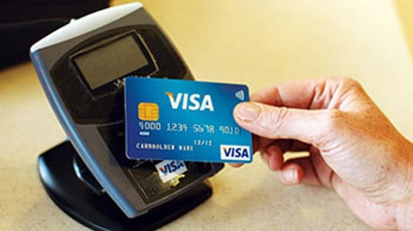 Visa contactless security