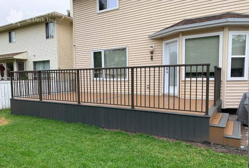 Trex composite deck in colors Beach Dune and Clam Shell
