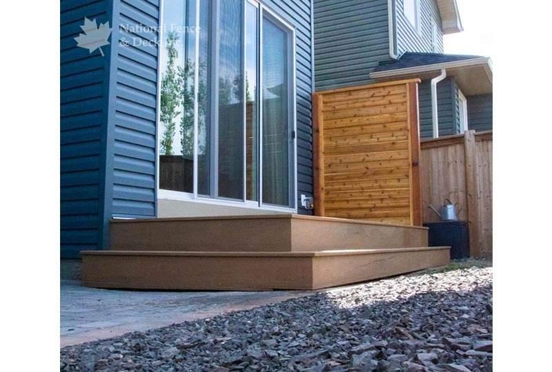 Timbertech composite deck in Coconut Husk