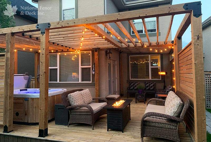 Pergola and waterproof roof structure