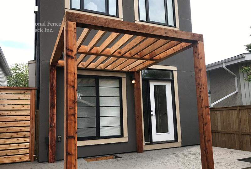 Simple, clean and modern cedar pergola.