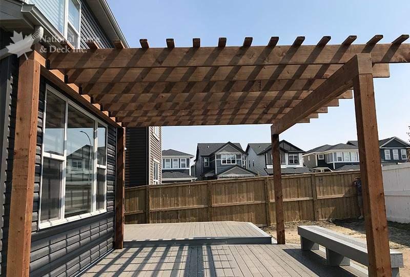 classic pergola rafter