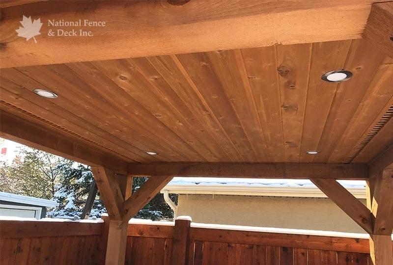 Covered deck gazebo