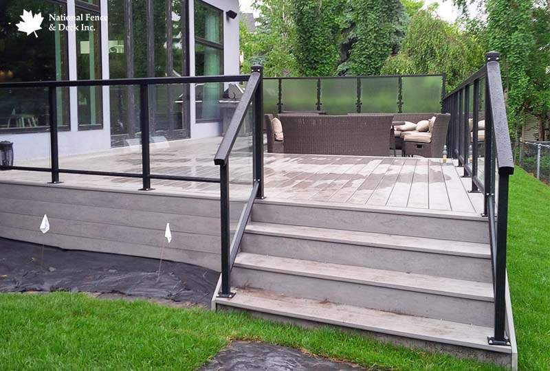 Deck With Glass Railing And Privacy Glass