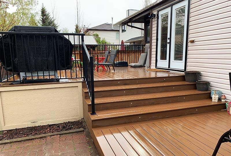 Timbertech Brown Oak Deck