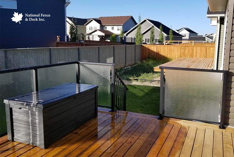 Aluminum Frosted Glass Panel Railing