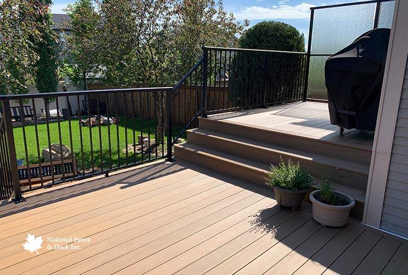 Multi-level Timbertech Coconut Husk Deck