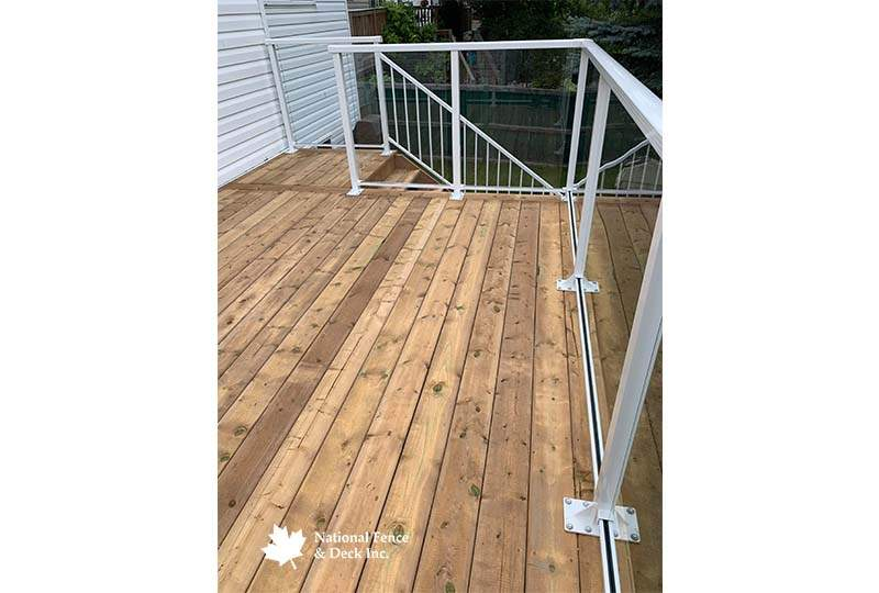 Pressure Treated Deck With Matching Stairs
