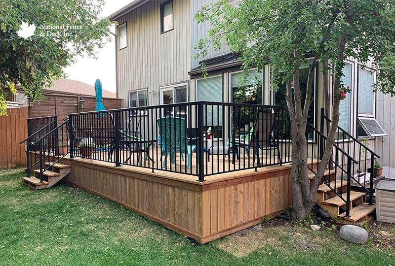 Pressure Treated Deck With Privacy Wall