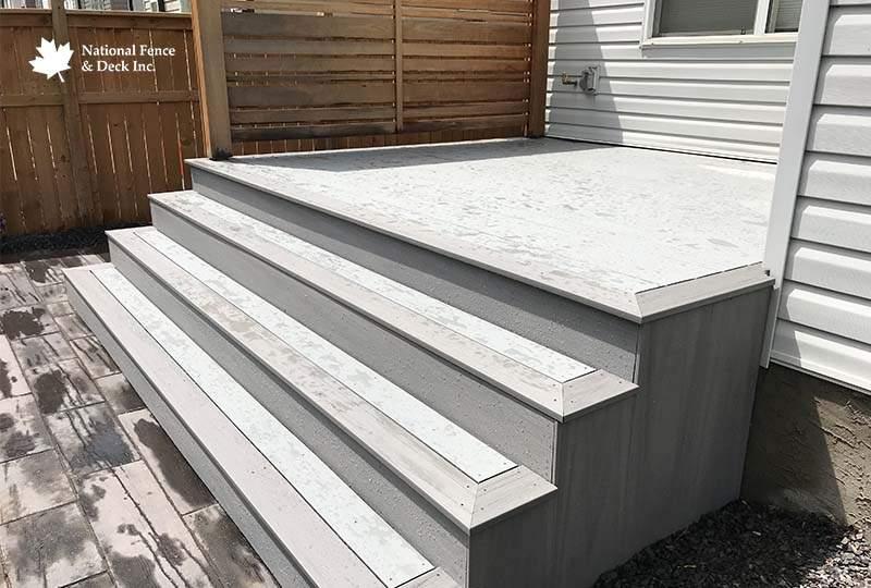 Timbertech Silver Maple and Sea Salt Deck