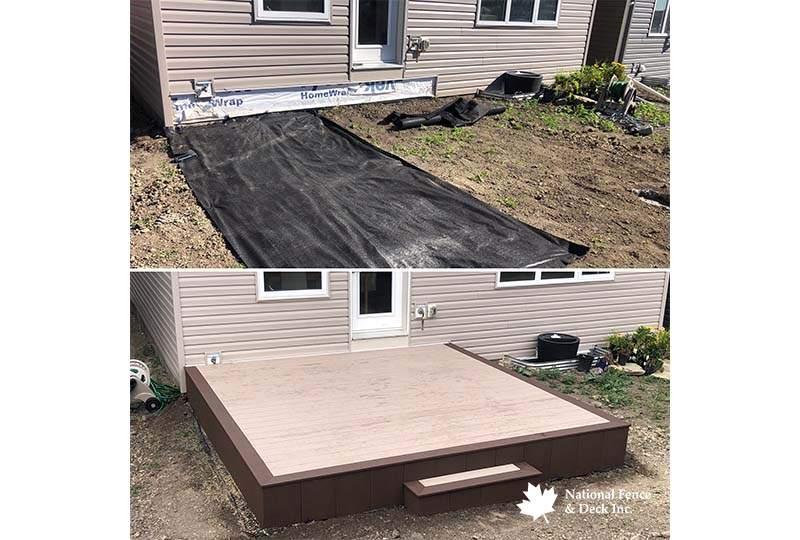 Timbertech Terrain Rustic Elm and Sandy Birch Composite Decking