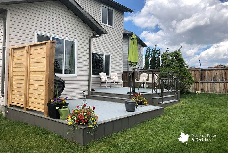 Timbertech Terrain's Silver Maple and Stone Ash Composite Deck
