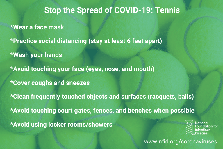 Tennis tips for COVID-19