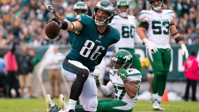Zach Ertz, Eagles, NFL, Packers