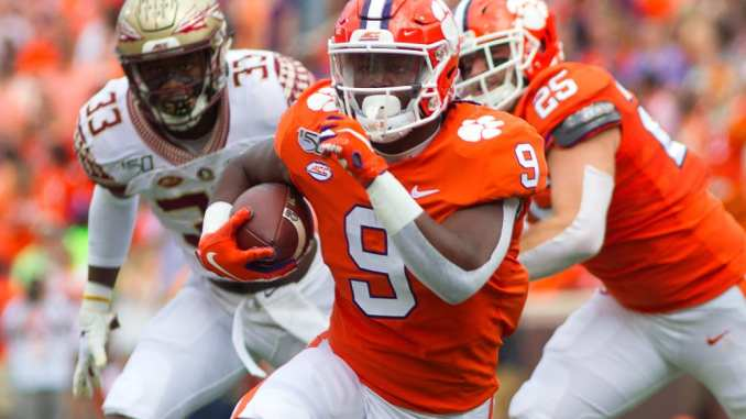 NFL Draft, Travis Etienne, Clemson Football, NCAA Football, Steelers