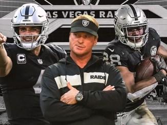 Raiders, Jon Gruden, Derek Carr, Josh Jacobs