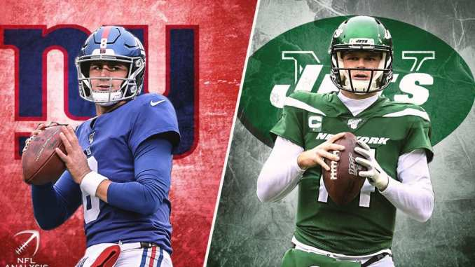 Daniel Jones, Sam Darnold, Jets, Giants