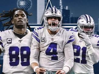 Cowboys, Ezekiel Elliott, Dak Prescott, CeeDee Lamb, Falcons
