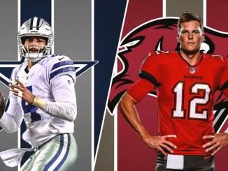 Dak Prescott, Tom Brady, Cowboys, Buccaneers