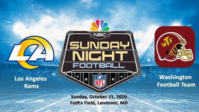 Los Angeles Rams vs Washington Football Team
