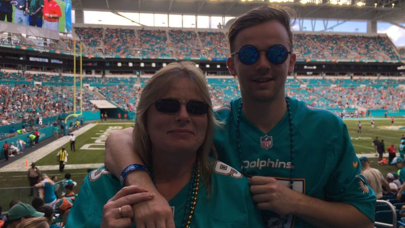 Celebrating female NFL fans in the UK: Introducing Miami Dolphins fan, Sarah Slade.