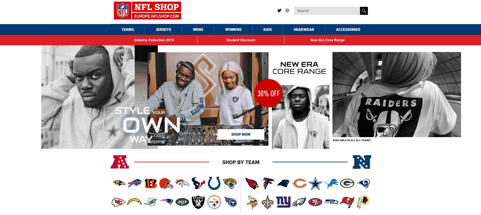 Enjoy our 10% discount code for NFLShopEurope