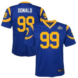 Youth Los Angeles Rams Aaron Donald Nike Royal Super Bowl LIII Bound Game Jersey