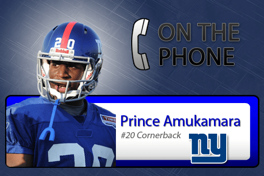 Interview with Giants CB Prince Amukamara – 1.11.2012
