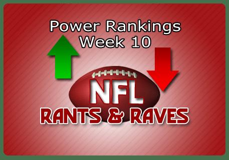 Jeff's Week 10 Most Powerful Rankings