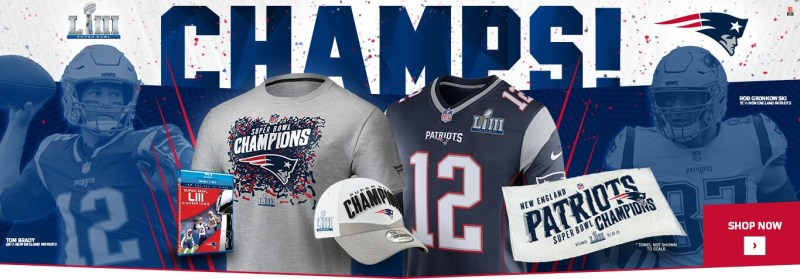 The New England Patriots Are Super Bowl LIII Champions. Click Now to Shop Patriots Champs Gear!